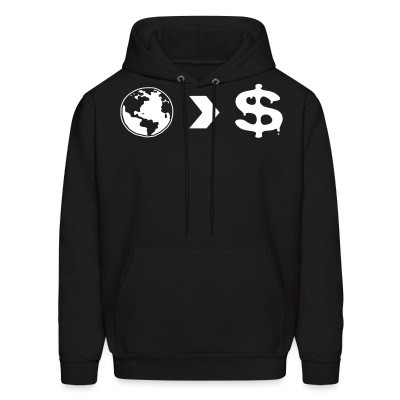 Sweat (Hoodie) Our planet is more important than their profits