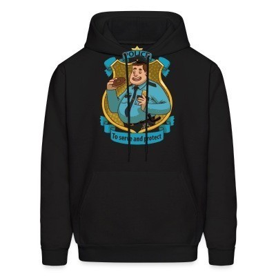 Sweat (Hoodie) Police / To serve and protect