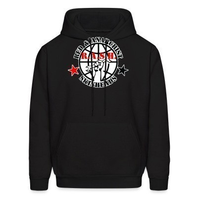 Sweat (Hoodie) R.A.S.H. Red & Anarchist Skinheads