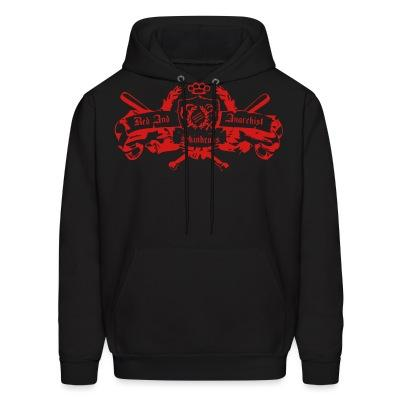 Sweat (Hoodie) Red and anarchist skinheads