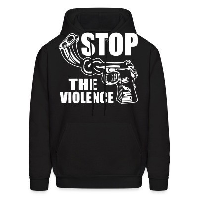 Sweat (Hoodie) Stop the violence