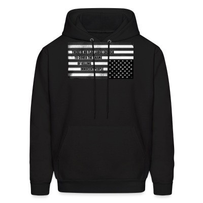 Sweat (Hoodie) There is no flag large enough to cover the shame of killing innocent people