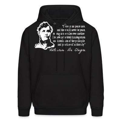 Sweat (Hoodie) There is no peace now, and there will never be peace, so long as one rules over another. I believe in the total disintegration and dissolution of the principle and pratice of authority (Voltairine De Cleyre)