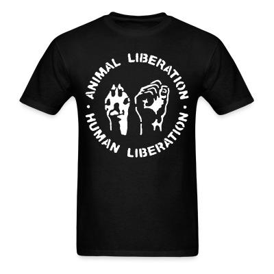 Animal liberation - human liberation Animal liberation - Vegetarian - Vegan - Anti-specism - Animal cruelty - Animal testing - Animal liberation front - ALF - Vivisection - Animal experim