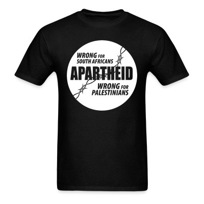 Apartheid : Wrong for South Africans, wrong for Palestinians