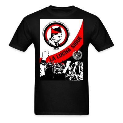 T-shirt CNT-AIT la lucha sigue