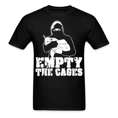 T-shirt Empty the cages