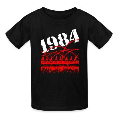 T-shirt enfant 1984 ignorance is strength war is peace