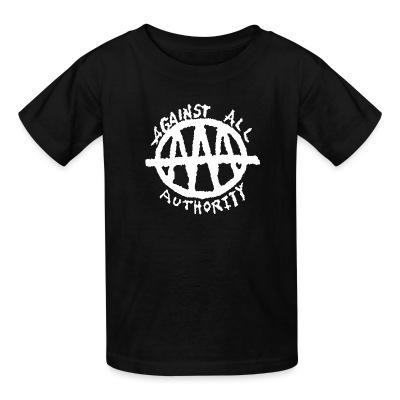 T-shirt enfant Against All Authority - AAA