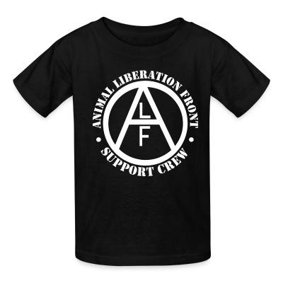 T-shirt enfant ALF Animal Liberation Front support crew