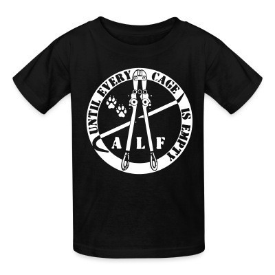 T-shirt enfant ALF until every cage is empty