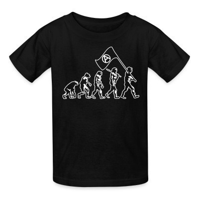 T-shirt enfant Anarchist evolution