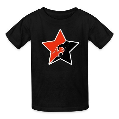 T-shirt enfant Anarcho-Communist Red & Black Star