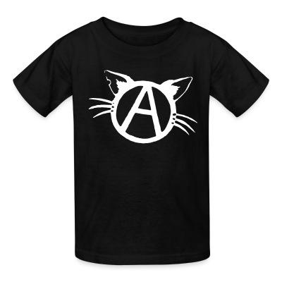 T-shirt enfant Anarchy cat
