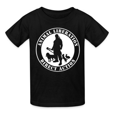T-shirt enfant Animal liberation direct action