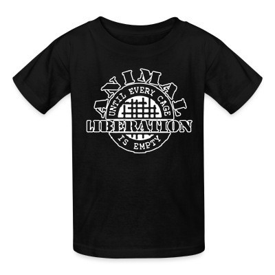 T-shirt enfant Animal liberation - until every cage is empty