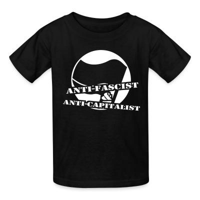 T-shirt enfant Anti-fascist & anti-capitalist
