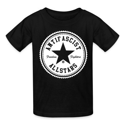 T-shirt enfant Antifascist allstars - freedom fighters