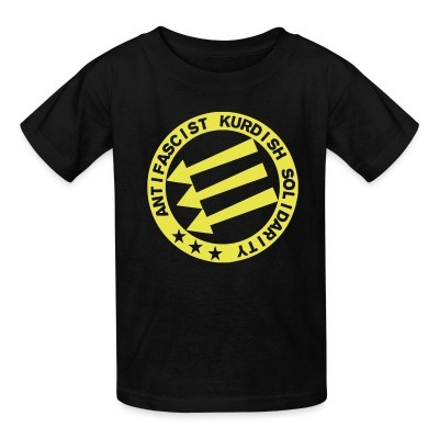 T-shirt enfant Antifascist Kurdish solidarity