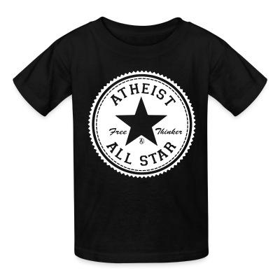 T-shirt enfant Atheist all star - free thinker