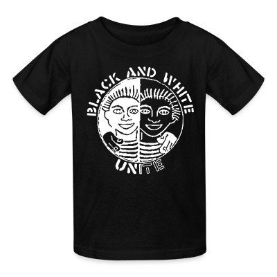 T-shirt enfant Black and white unite