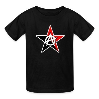T-shirt enfant Black & Red Anarchist Star