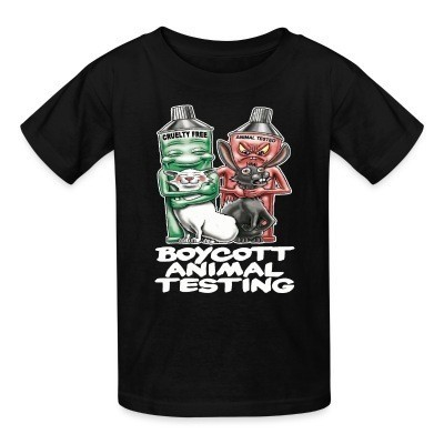 T-shirt enfant Boycott animal testing
