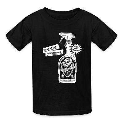 T-shirt enfant Clean up your neighborhood! Antifa cleaning agent 100% anti-fascist