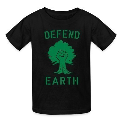 T-shirt enfant Defend earth