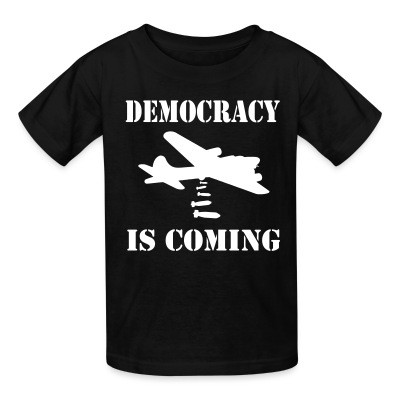 T-shirt enfant Democracy is coming