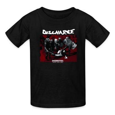 T-shirt enfant Discharge - disensitise: (vb) deny - remove - destroy