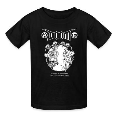 T-shirt enfant Doom - Exploiting the earth, the earth that is ours
