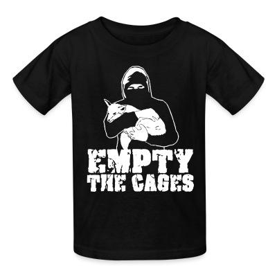 T-shirt enfant Empty the cages
