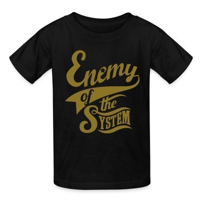 T-shirt enfant Enemy of the system