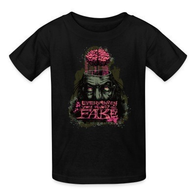 T-shirt enfant Everything you know is fake