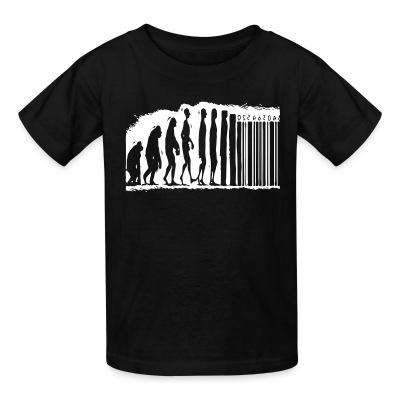 T-shirt enfant Evolution barcode