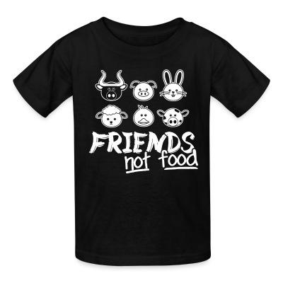 T-shirt enfant Friends not food