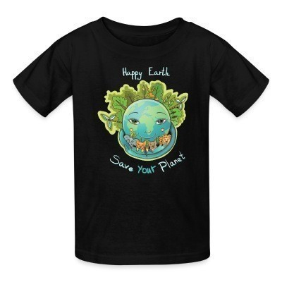 T-shirt enfant Happy earth save your planet