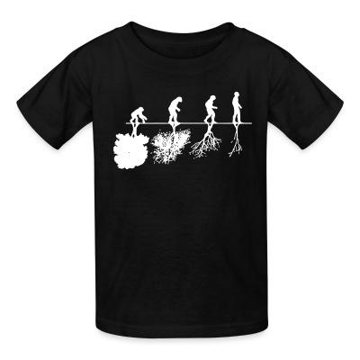T-shirt enfant Human evolution and the destruction of the environment
