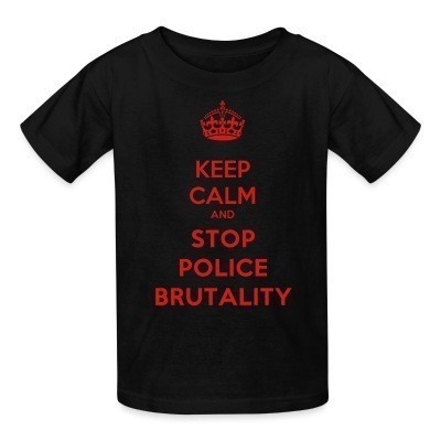 T-shirt enfant Keep calm and stop police brutality
