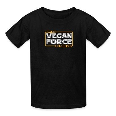T-shirt enfant May the vegan force be with you
