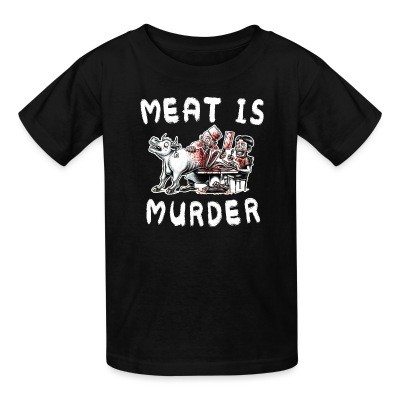 T-shirt enfant Meat is murder