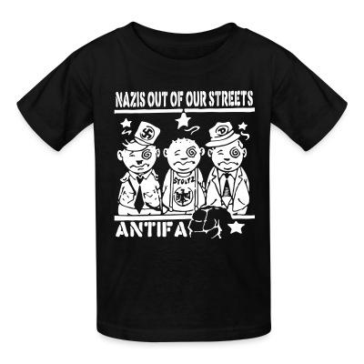 T-shirt enfant Nazis out of our streets - antifa