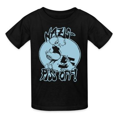 T-shirt enfant Nazis piss off!