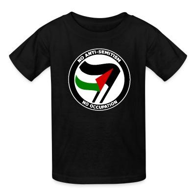 T-shirt enfant No anti-semitism no occupation