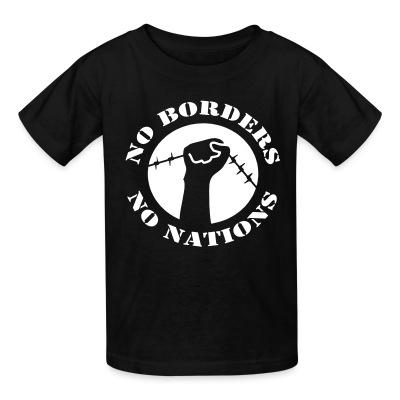 T-shirt enfant No borders no nations