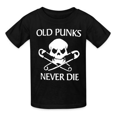 T-shirt enfant Old punks never die