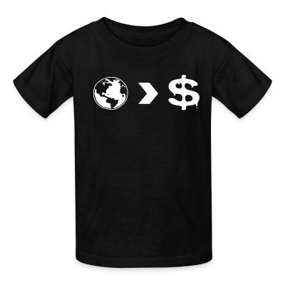 T-shirt enfant Our planet is more important than their profits