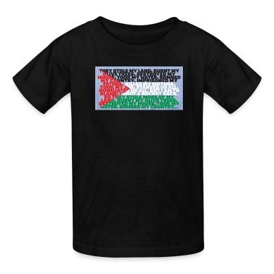 T-shirt enfant Palestine - They stole my land