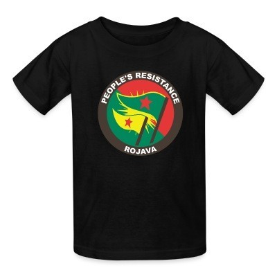 T-shirt enfant People's resistance. Rojava
